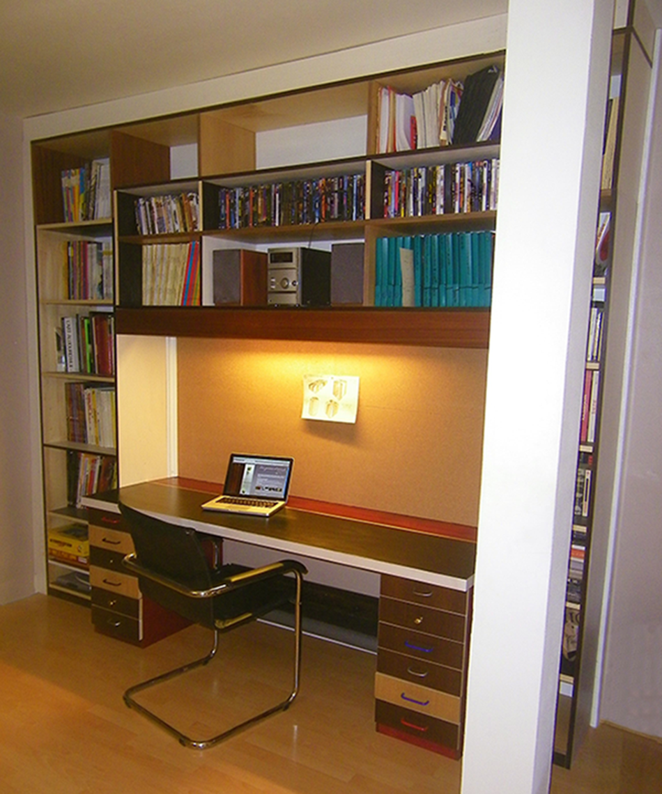 Bibliothque pour bureau meuble de salon contemporain for Meuble yolo alinea
